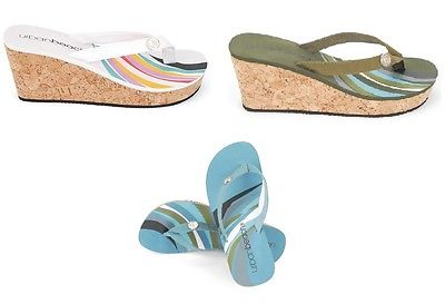 17f1c7a14d14 LADIES WAVES FLIP FLOPS WEDGE UK SIZES 3 4 5 6 7 8 BEACH HOLIDAY SANDALS